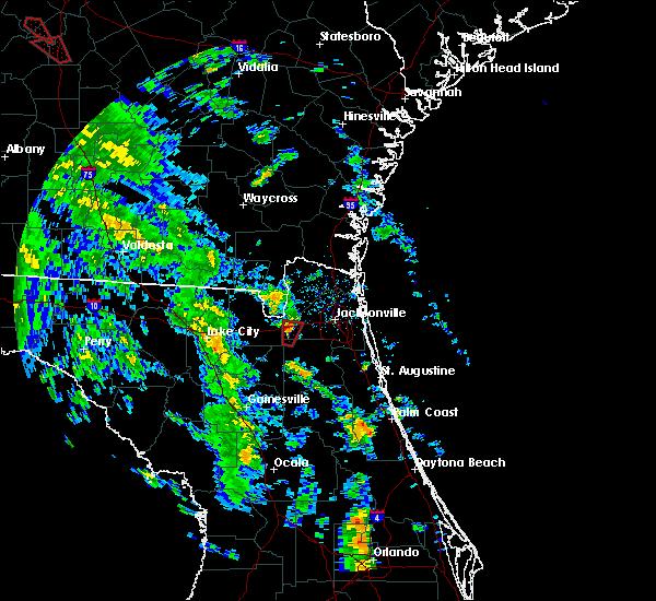 Radar Image for Severe Thunderstorms near Jacksonville, FL at 10/10/2018 3:37 PM EDT