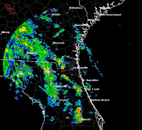 Radar Image for Severe Thunderstorms near Jacksonville, FL at 10/10/2018 3:46 PM EDT