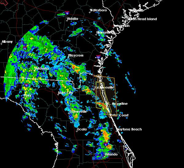 Radar Image for Severe Thunderstorms near Waldo, FL at 10/10/2018 4:13 PM EDT