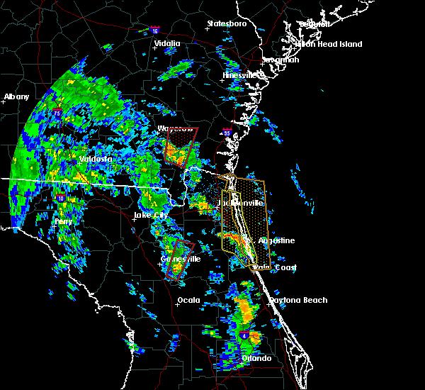 Radar Image for Severe Thunderstorms near Homeland, GA at 10/10/2018 4:22 PM EDT