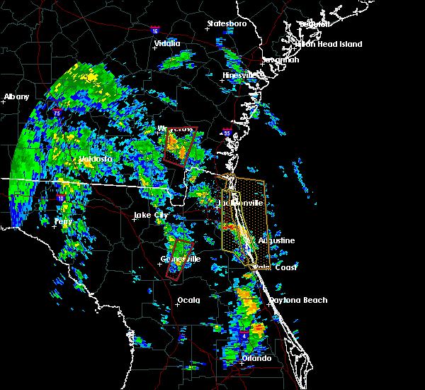 Radar Image for Severe Thunderstorms near Waldo, FL at 10/10/2018 4:28 PM EDT