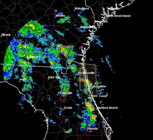Radar Image for Severe Thunderstorms near Nahunta, GA at 10/10/2018 4:32 PM EDT
