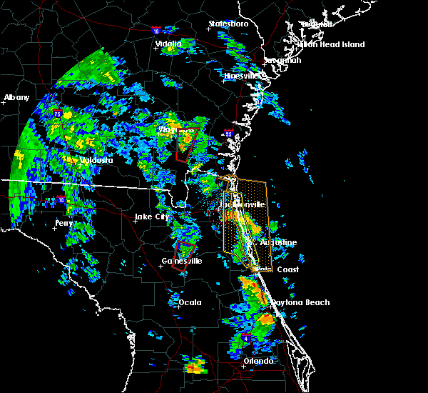 Radar Image for Severe Thunderstorms near Homeland, GA at 10/10/2018 4:44 PM EDT