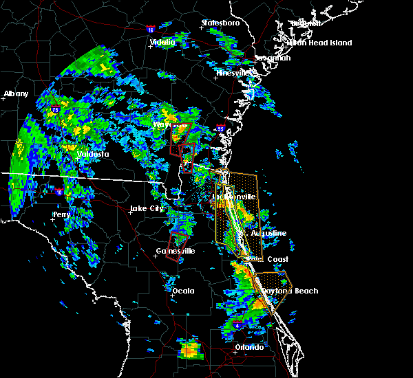Radar Image for Severe Thunderstorms near Keystone Heights, FL at 10/10/2018 4:51 PM EDT