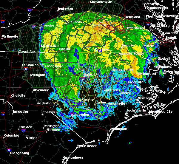 Radar Image for Severe Thunderstorms near Falcon, NC at 10/11/2018 5:40 PM EDT