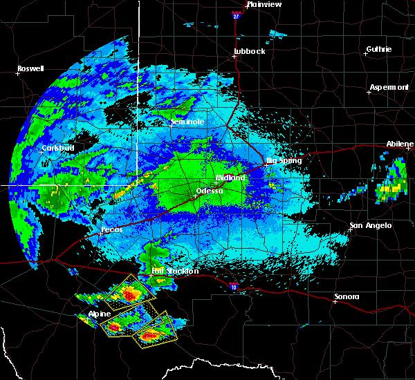 Radar Image for Severe Thunderstorms near Marathon, TX at 10/12/2018 9:24 PM CDT