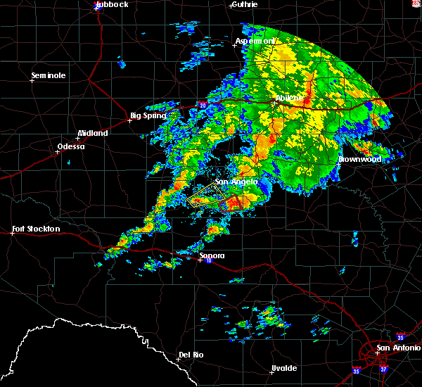 Radar Image for Severe Thunderstorms near San Angelo, TX at 10/13/2018 7:46 AM CDT