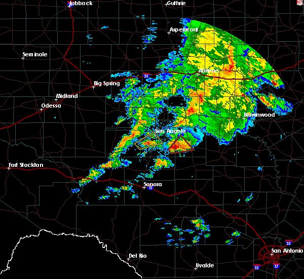 Radar Image for Severe Thunderstorms near Eden, TX at 10/13/2018 7:59 AM CDT
