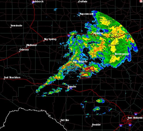 Radar Image for Severe Thunderstorms near Eden, TX at 10/13/2018 8:29 AM CDT