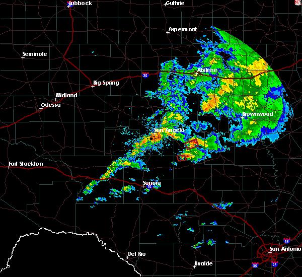 Radar Image for Severe Thunderstorms near Eden, TX at 10/13/2018 8:53 AM CDT