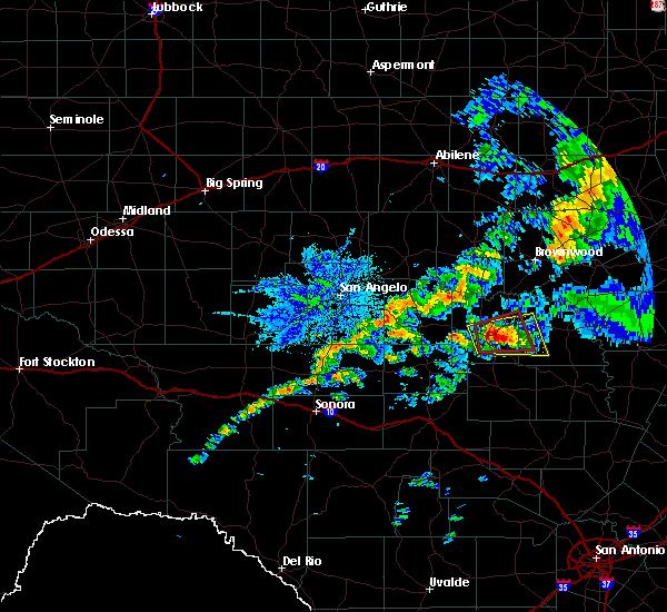 Radar Image for Severe Thunderstorms near Brady, TX at 10/13/2018 10:24 AM CDT