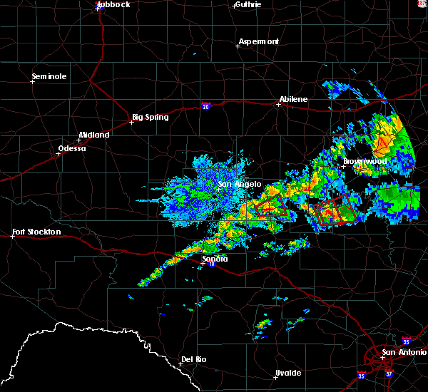 Radar Image for Severe Thunderstorms near Eden, TX at 10/13/2018 10:45 AM CDT