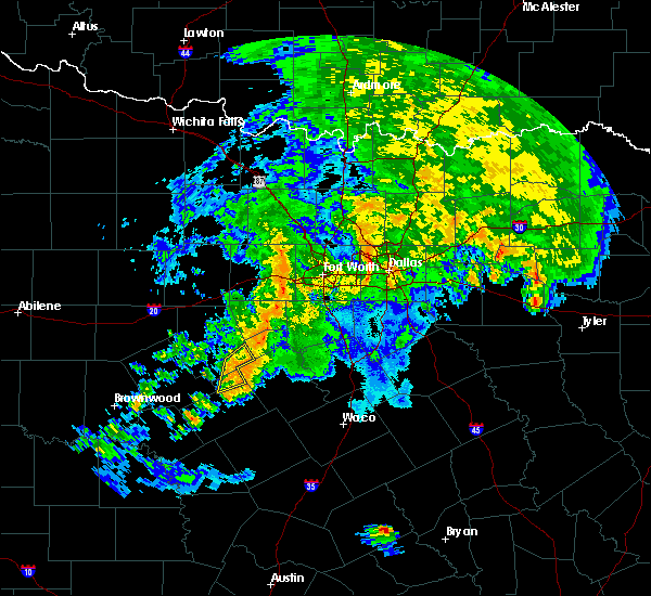 Radar Image for Severe Thunderstorms near Hico, TX at 10/13/2018 11:34 AM CDT