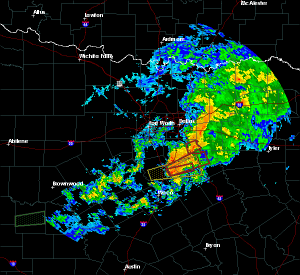 Radar Image for Severe Thunderstorms near Frost, TX at 10/13/2018 1:26 PM CDT