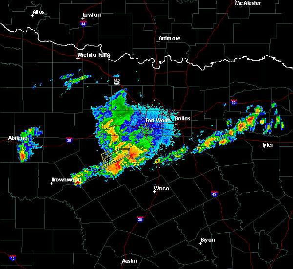 Radar Image for Severe Thunderstorms near Hico, TX at 10/14/2018 7:27 PM CDT