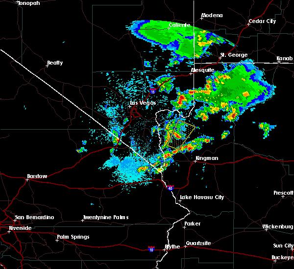 Radar Image for Severe Thunderstorms near Dolan Springs, AZ at 10/22/2018 4:33 AM MST