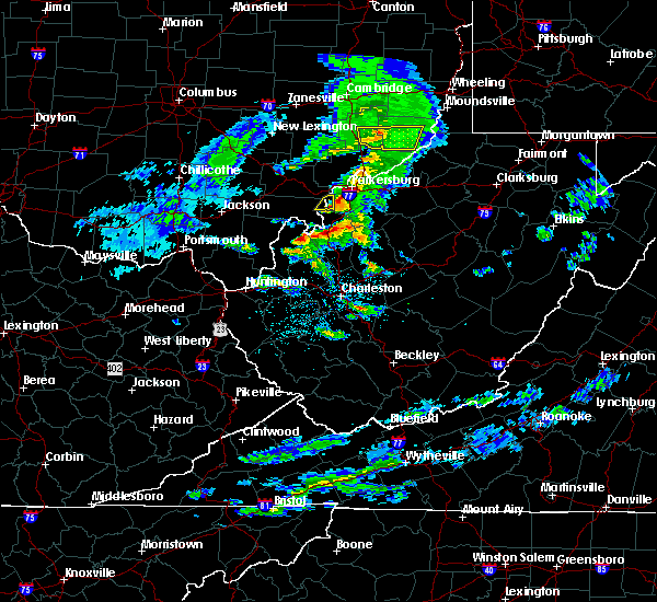Radar Image for Severe Thunderstorms near Hockingport, OH at 10/28/2018 7:08 PM EDT