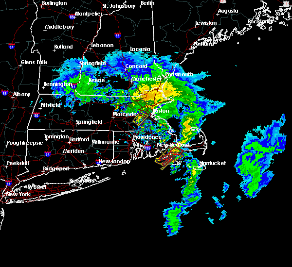 Radar Image for Severe Thunderstorms near Medfield, MA at 10/29/2018 9:58 AM EDT