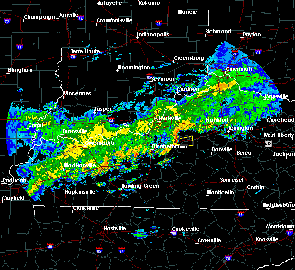 Radar Image for Severe Thunderstorms near Willisburg, KY at 10/31/2018 6:36 PM EDT