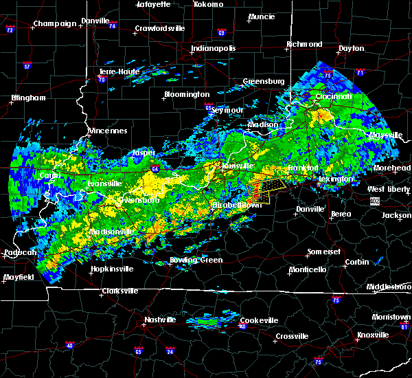 Radar Image for Severe Thunderstorms near Willisburg, KY at 10/31/2018 6:47 PM EDT