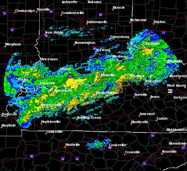 Radar Image for Severe Thunderstorms near Lawrenceburg, KY at 10/31/2018 6:53 PM EDT