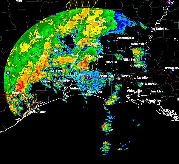 Radar Image for Severe Thunderstorms near Oretta, LA at 10/31/2018 9:23 PM CDT