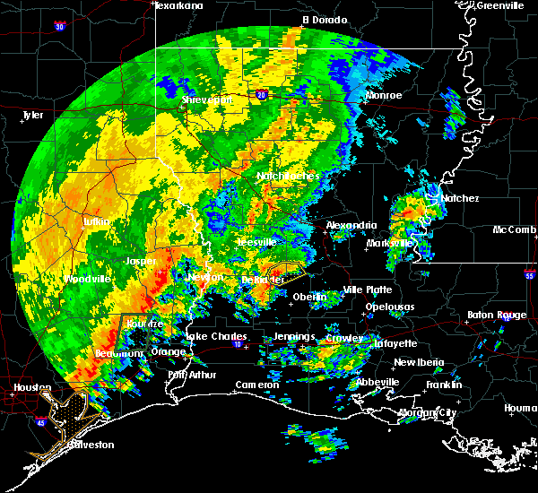 Radar Image for Severe Thunderstorms near Elizabeth, LA at 10/31/2018 10:15 PM CDT