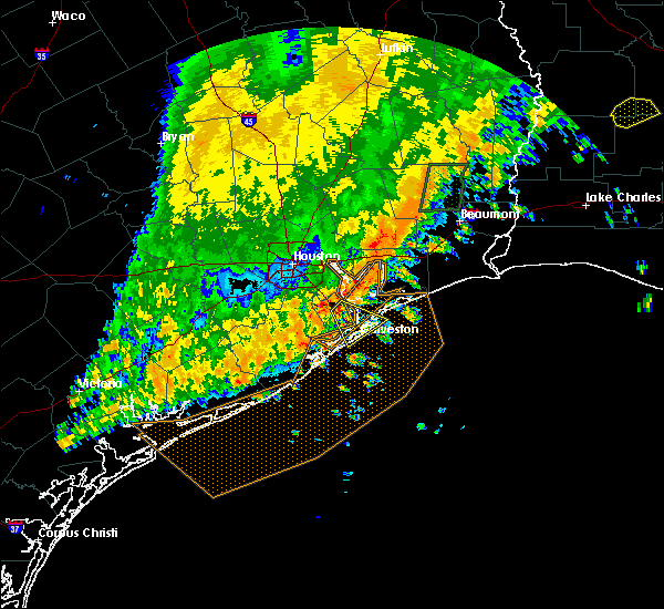 Radar Image for Severe Thunderstorms near San Leon, TX at 10/31/2018 10:19 PM CDT