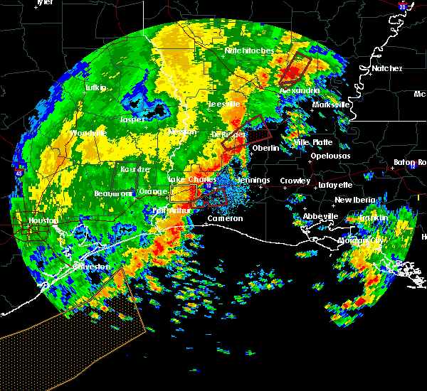 Radar Image for Severe Thunderstorms near Lake Charles, LA at 11/1/2018 12:02 AM CDT