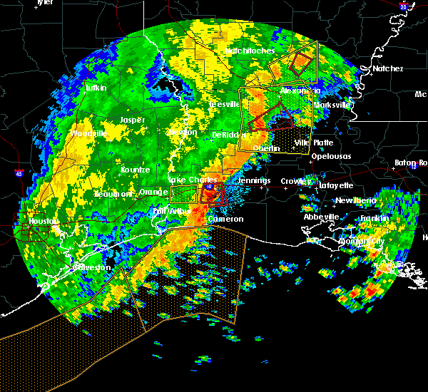 Radar Image for Severe Thunderstorms near Lake Charles, LA at 11/1/2018 12:24 AM CDT