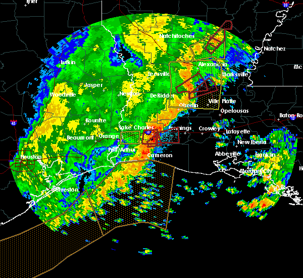 Radar Image for Severe Thunderstorms near Lake Charles, LA at 11/1/2018 12:30 AM CDT