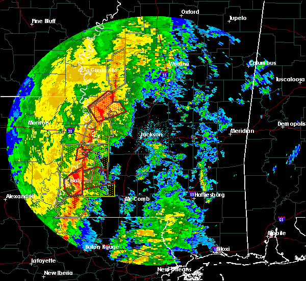 Radar Image for Severe Thunderstorms near Roxie, MS at 11/1/2018 2:25 AM CDT