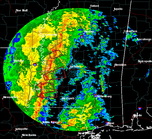 Radar Image for Severe Thunderstorms near Crystal Springs, MS at 11/1/2018 2:34 AM CDT