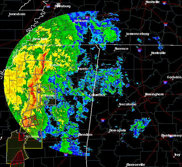 Radar Image for Severe Thunderstorms near Winona, MS at 11/1/2018 3:29 AM CDT