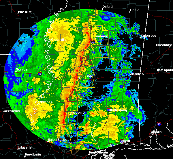 Radar Image for Severe Thunderstorms near Monticello, MS at 11/1/2018 3:35 AM CDT