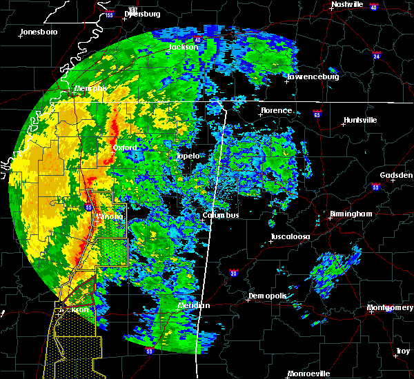 Radar Image for Severe Thunderstorms near Winona, MS at 11/1/2018 3:51 AM CDT
