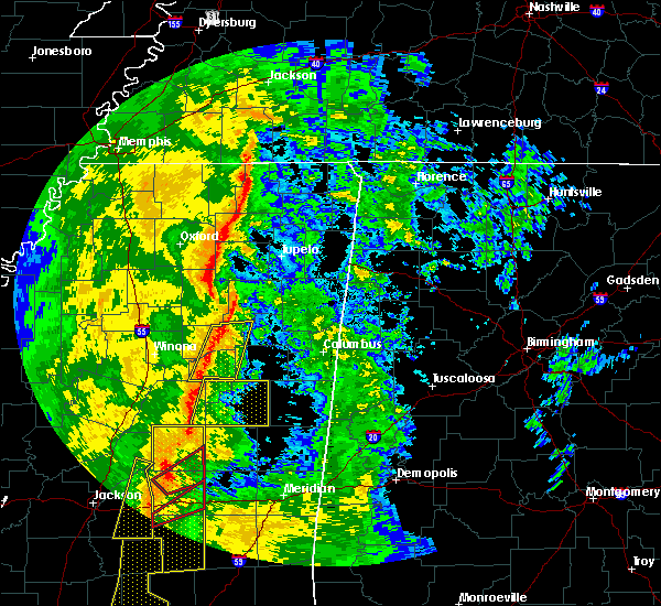Radar Image for Severe Thunderstorms near Noxapater, MS at 11/1/2018 4:37 AM CDT