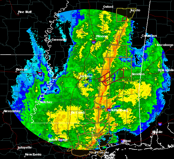 Radar Image for Severe Thunderstorms near Newton, MS at 11/1/2018 4:59 AM CDT