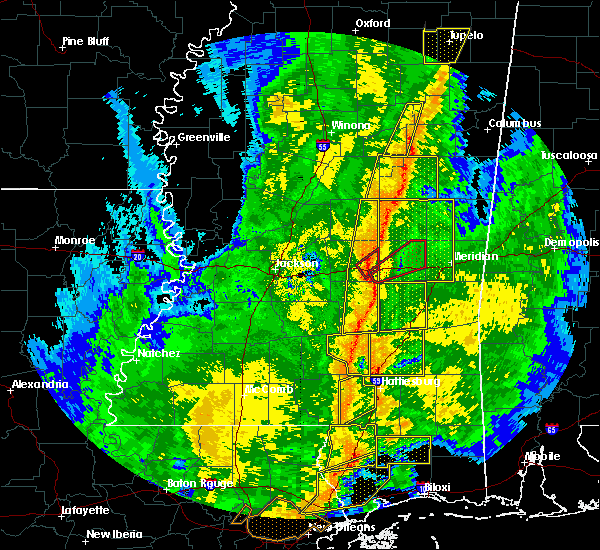 Radar Image for Severe Thunderstorms near Newton, MS at 11/1/2018 5:09 AM CDT