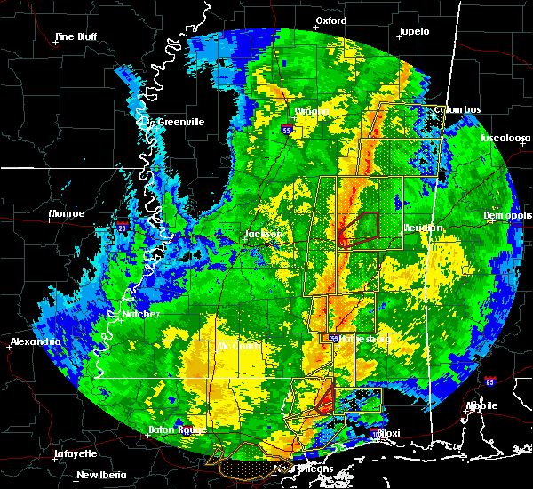 Radar Image for Severe Thunderstorms near Newton, MS at 11/1/2018 5:17 AM CDT