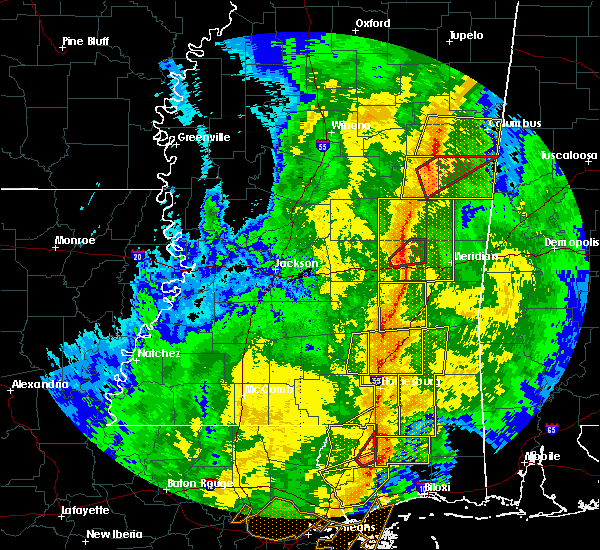 Radar Image for Severe Thunderstorms near Newton, MS at 11/1/2018 5:27 AM CDT