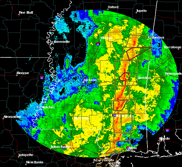 Radar Image for Severe Thunderstorms near Newton, MS at 11/1/2018 5:36 AM CDT