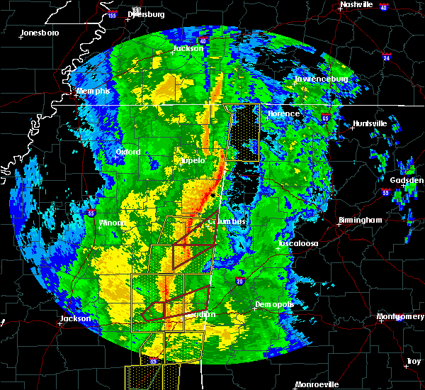 Radar Image for Severe Thunderstorms near Red Bay, AL at 11/1/2018 5:48 AM CDT