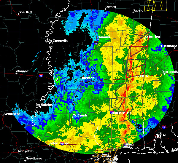 Radar Image for Severe Thunderstorms near Bogue Chitto, MS at 11/1/2018 5:58 AM CDT
