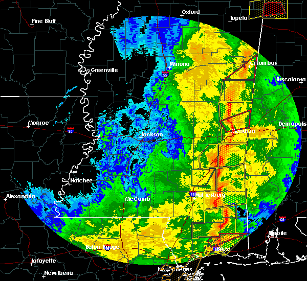 Radar Image for Severe Thunderstorms near Lauderdale, MS at 11/1/2018 6:04 AM CDT