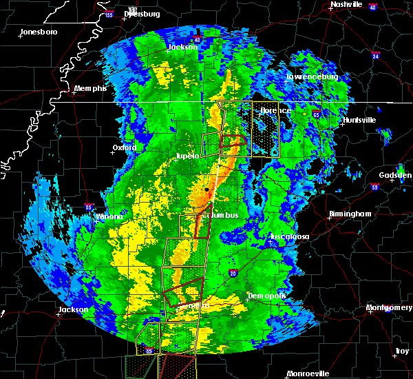 Radar Image for Severe Thunderstorms near Red Bay, AL at 11/1/2018 6:13 AM CDT