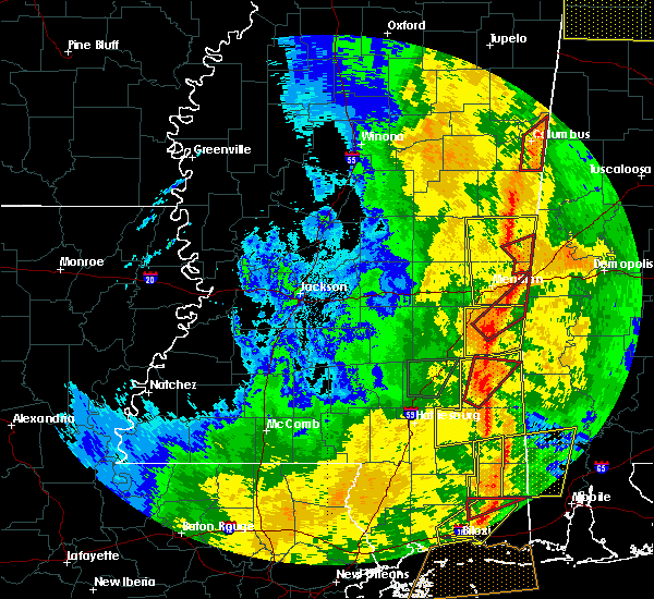 Radar Image for Severe Thunderstorms near Lauderdale, MS at 11/1/2018 6:26 AM CDT