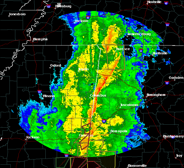 Radar Image for Severe Thunderstorms near Town Creek, AL at 11/1/2018 6:44 AM CDT