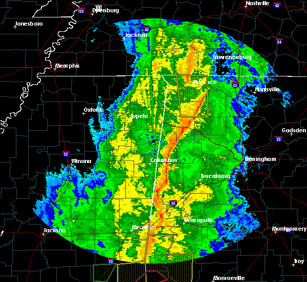 Radar Image for Severe Thunderstorms near Russellville, AL at 11/1/2018 6:59 AM CDT
