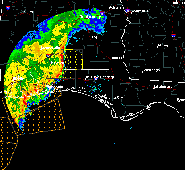 Radar Image for Severe Thunderstorms near Gantt, AL at 11/1/2018 9:26 AM CDT